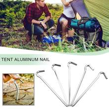10PCS Aluminium Alloy Tent Nails Tent Pegs Stakes Hook Lightweight Tents Nail For Travel Trip Outdoor Camping Accessories Tool(China)