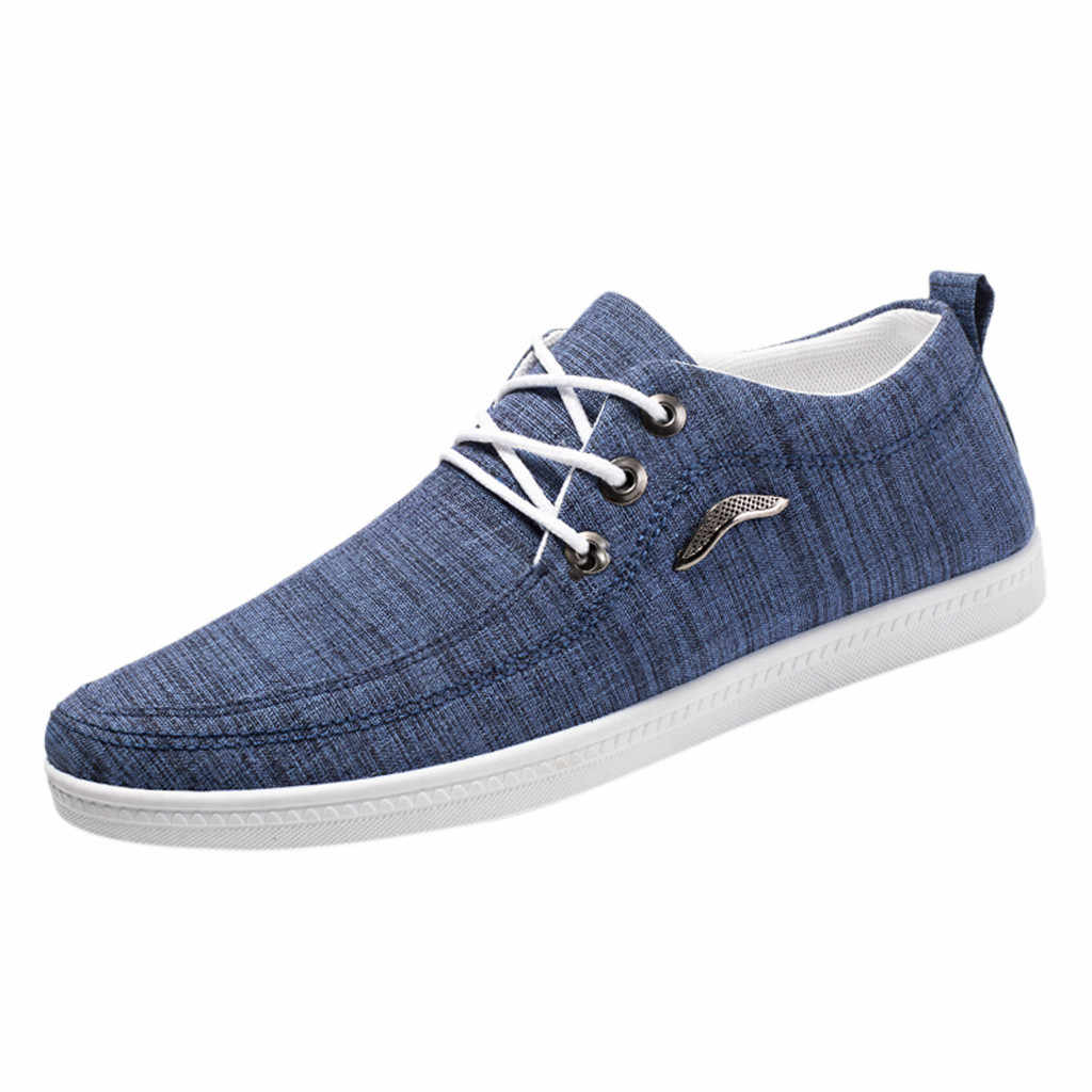 SAGACE Fashion shoes Men Outdoor Canvas Casual Shoes male Lace-Up Lazy Shoes Breathable Sneakers Men sneakers men trainers 2019