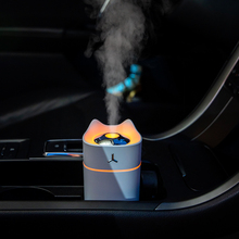280ml Adorable Cat Ultrasonic Air Humidifier For Car Purify Freshner USB Aroma Diffuser Fogger Color Lamp Humidificador