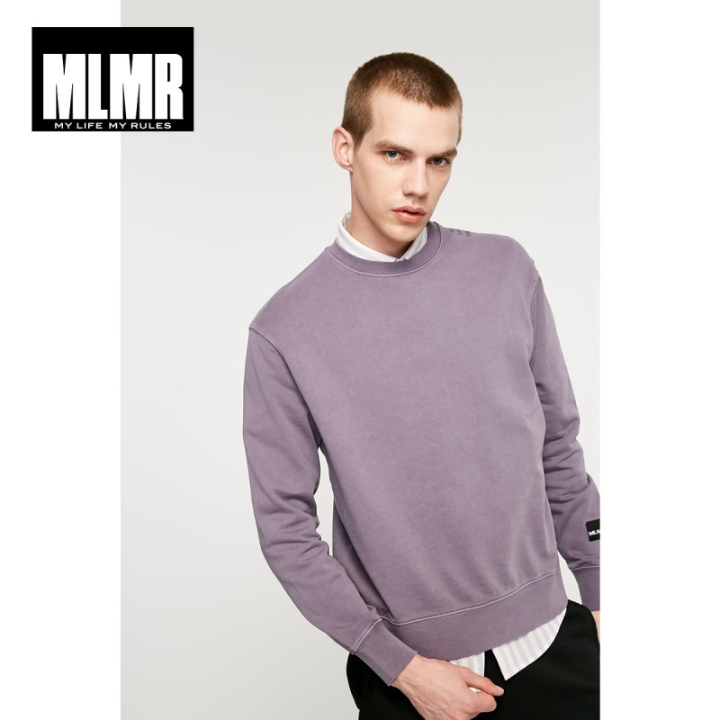 JackJones Men's Solid Colour Letter Print Pattern Basic Sweatshirt 219133542