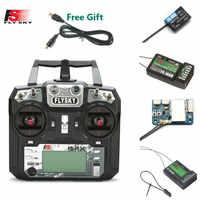 FLYSKY FS-i6X i6X 10CH 2,4 GHz AFHDS 2A RC con el transmisor de X6B iA6B A8S iA10B iA6 receptor para RC FPV Racing Drone caja de venta al por menor