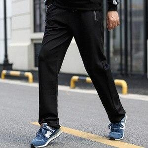 Мужские брюки с карманами на молнии, брюки большого размера с высокой талией, Экстра длинные спортивные штаны для мужчин, 2020