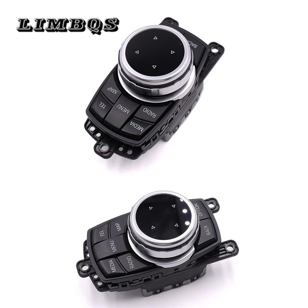 IDrive Multimedia Buttons Cover For Bmw F30 34 F10 F20 F25 F26 F48 F07 X1 2 3 4 5 6 7 Series Ceramic Black Knob Trim Stickers