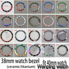 Nieuwe 38 Mm Hoge Kwaliteit Gmt Keramische/Titanium Bezel Insert Fit 40 Mm Horloge Case Mens Gmt Horloge Bezel