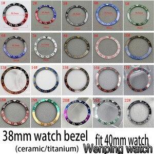 Image 1 - Nuovo 38 millimetri di alta qualità GMT ceramica/titanium Inserto lunetta misura 40 millimetri della cassa per orologi mens GMT orologio lunetta
