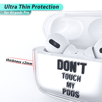 Clear Funny Case for Airpods Pro 1