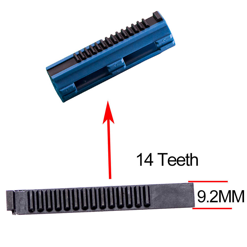 14/15 dentes pistão preto alta fibra de carbono reforçado aço completo para airsoft m4 ak g36 mp5 caixa de velocidades tático caça acessórios