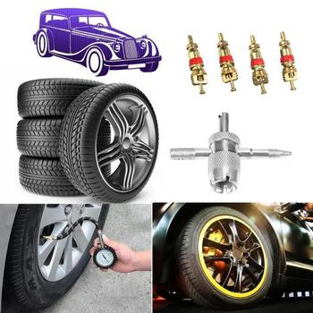5 Pcs/set valve core wrench valve key switch car tire car deflation tool electric bicycle O6V6 image