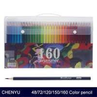CHENYU 150 Matite Colorate Acqua Prismacolor Lapis de cor 48/72/160 Colori Ad Olio Solubile In Matita di colore per scuola di arte del chiodo Forniture