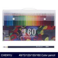 CHENYU 150 lápices de colores agua Prismacolor lapislázuli 48/72/160 colores lápiz de color Soluble en aceite para material escolar para Bellas Artes