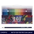 Chenyu 150 lápis colorido água prismacolor lapis de cor 48/72/160 cores lápis de cor solúvel em óleo para material escolar de arte