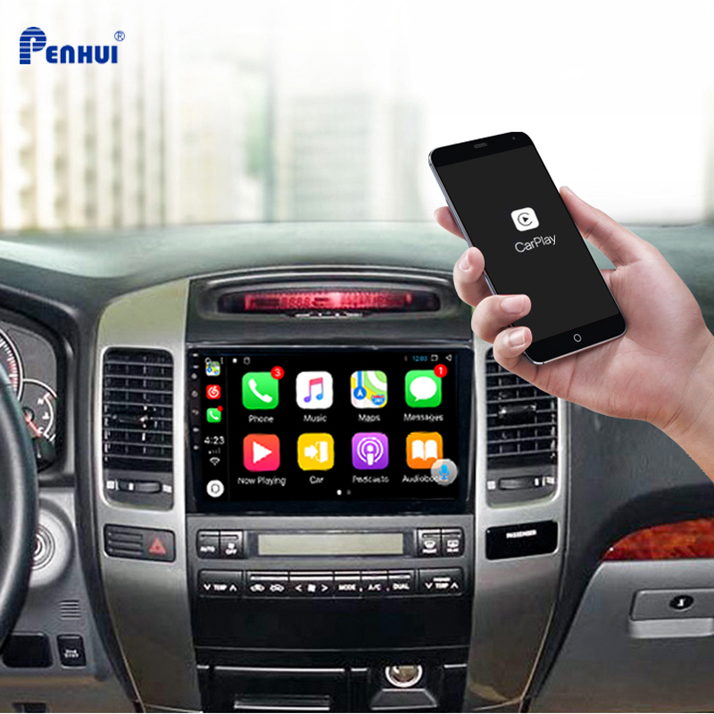 Car DVD For Toyota Land Cruiser Prado 120 2003-2009 Car Radio Multimedia Video Player Navigation GPS Android 10.0 double din