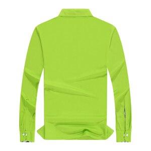 Image 2 - Plus Size Women Polo Shirt High Quality Cotton Long Sleeve Shirt Autumn Female Breathable Sweatshirt Activity Suit Customization