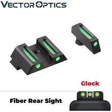 Óptica vectorial de revólver delantero trasero de fibra óptica contra vista Combo verde ajuste Glock modelos G17 G19 etc