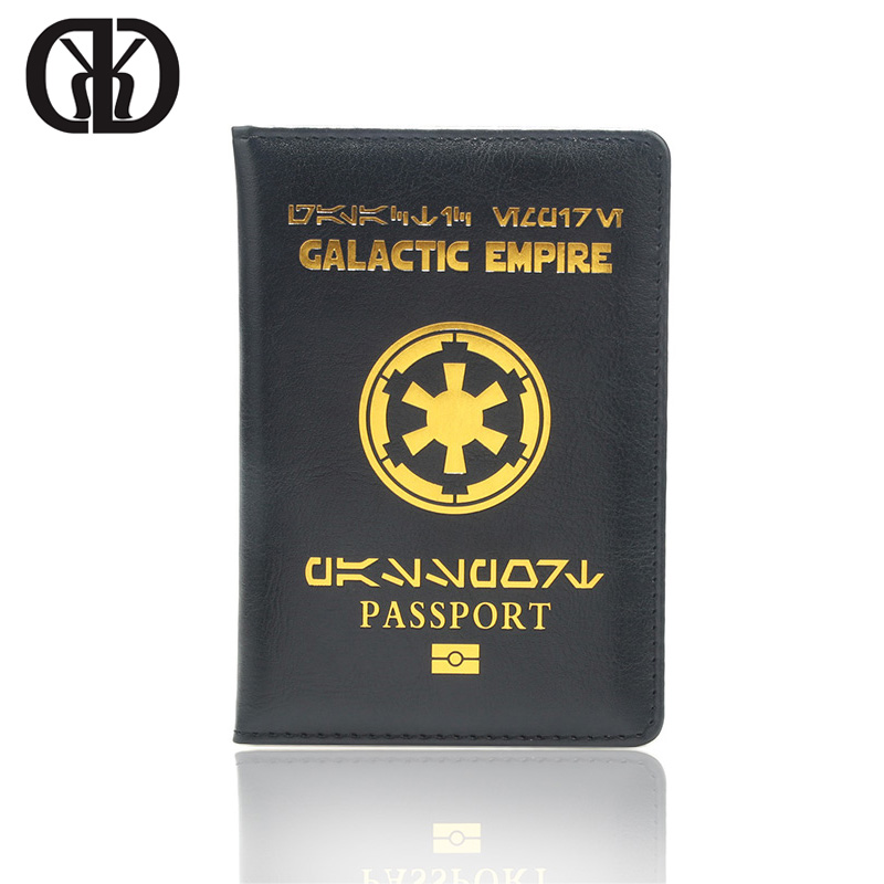 HEQUN Fashion Galactic Empire Passport Cover Black Luxury Pu Leather Covers For Passport Bag Thin Travel Case Passport Holder