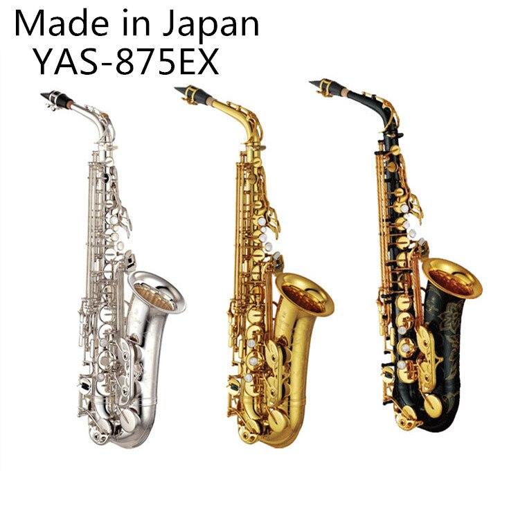 Fabriqué au japon YAS-875 professionnel Alto Drop E Saxophone or Alto Saxophone avec bande bouche pièce Reed Aglet plus colis mail