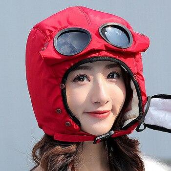 2020 New original design fashion warm cap winter men winter hats for women kids waterproof hood hat with glasses cool balaclava 21