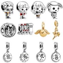 цена на New Silver 925 New Original Harry Dobby Train Charms Beads Pendant Fit for Original Pandora Bracelets or Bangele DIY Bracelet