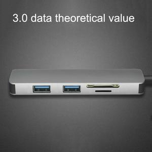 Image 5 - ฮับUSB C HUB HDMI USB 3.0 SD/TF Card Readerอะแดปเตอร์สำหรับMac Book Proอุปกรณ์เสริมUSB CประเภทC Splitter 2พอร์ตUSB HUB