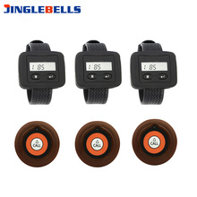 Pagers Receiver Key-Buttons 3-Wrist-Watches Restaurant Single with Battery
