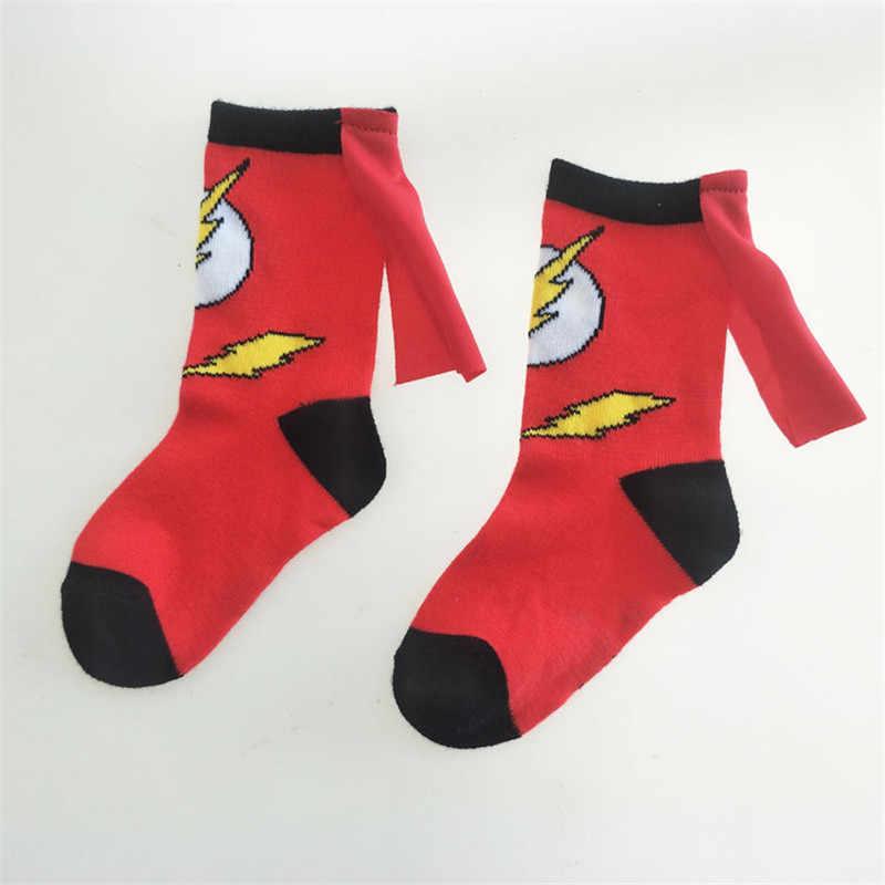 Avenger bebek erkek spor pamuk çorap çocuklar çorap moda örümcek adam Superman tasarım çocuk futbol basketbol çorapları