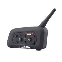 Fodsports V6 Pro домофон мотоцикл беспроводная Bluetooth система внутренней связи для шлема гарнитура 6 Rider 1200M Moto BT домофон