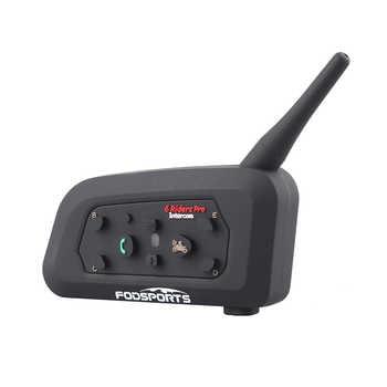 Fodsports V6 Pro Intercom Motorcycle Wireless Bluetooth Intercom Helmet Headset 6 Rider 1200M Moto BT Interphone - DISCOUNT ITEM  27% OFF All Category
