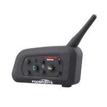 Fodsports intercomunicador inalámbrico V6 Pro con Bluetooth para casco de motocicleta, auriculares, 6 Rider, 1200M