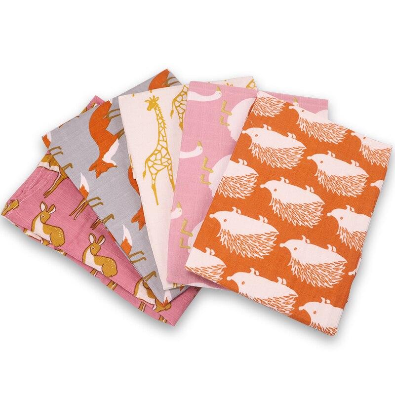 Organic Cotton Baby Blankets Newborn Soft  Baby Blanket Muslin Swaddle Wrap Feeding Burp Cloth Towel Scarf Baby Stuff 60*60cm