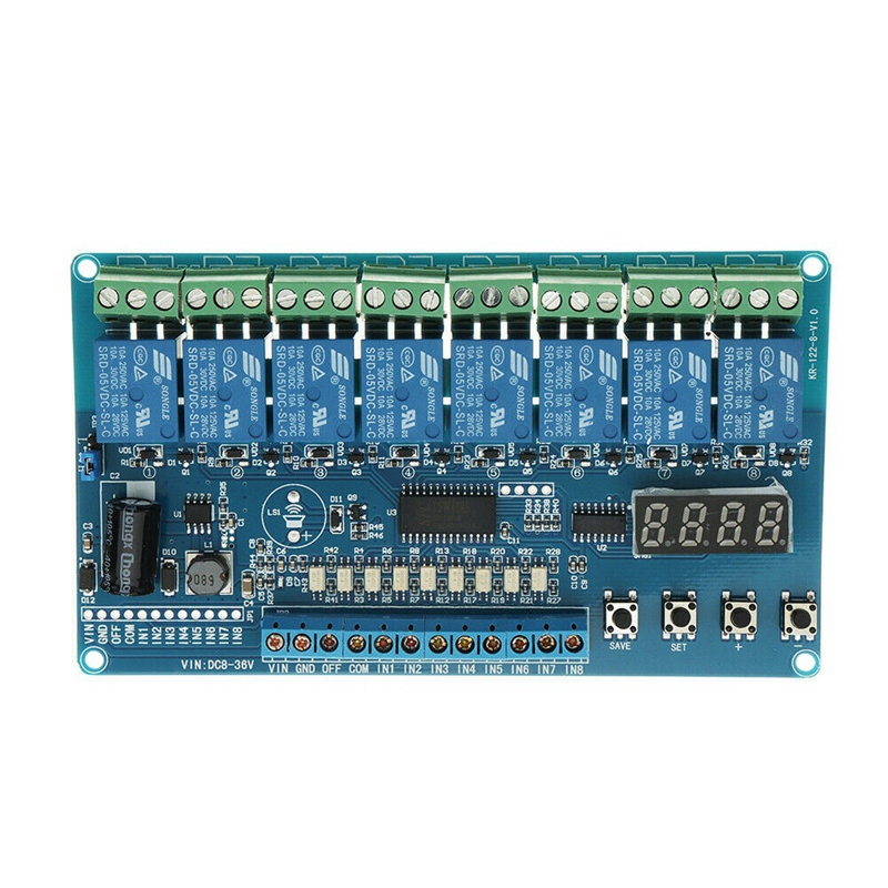 DC 8V to 36V Industrial Grade 8 Channel Multi-Function Relay Module Wide Voltage
