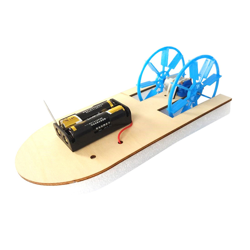 Electric boat science education toy DIY Electronic Assembly Boat Model Toy Scientific Experiment Toy For Kids Gifts #4J09 (9)