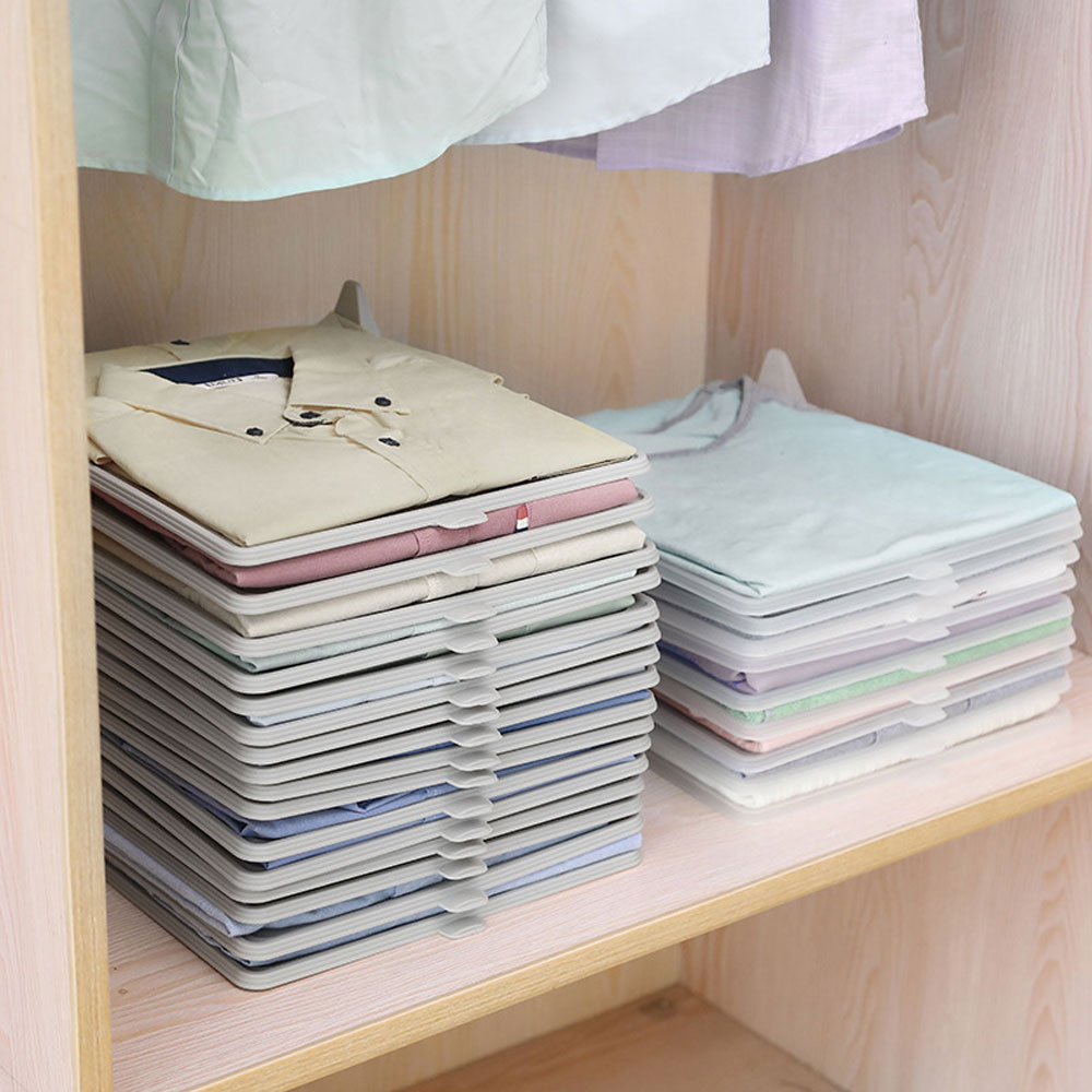 Creative <font><b>T</b></font> <font><b>Shirt</b></font> Clothes Organizer Closet Storage Travel Clothes Organization System Folding Board Home Organizer Tools image