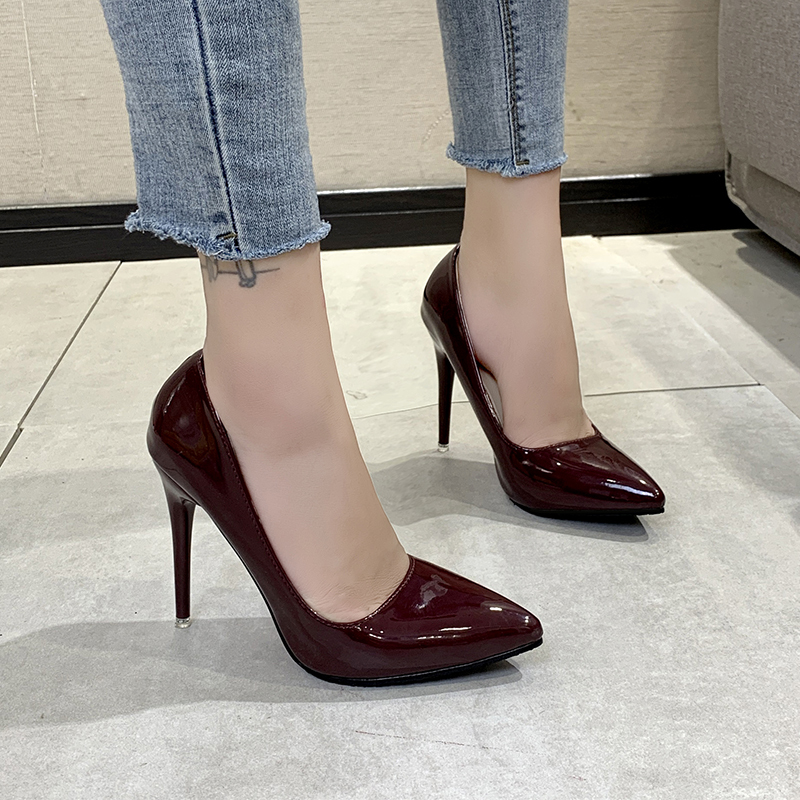 Women Pumps High Heels Shoes Pointed Toe Brand Woman Wedding Shoes Spring Summer Thin Heels Office Lady Dress Shoes