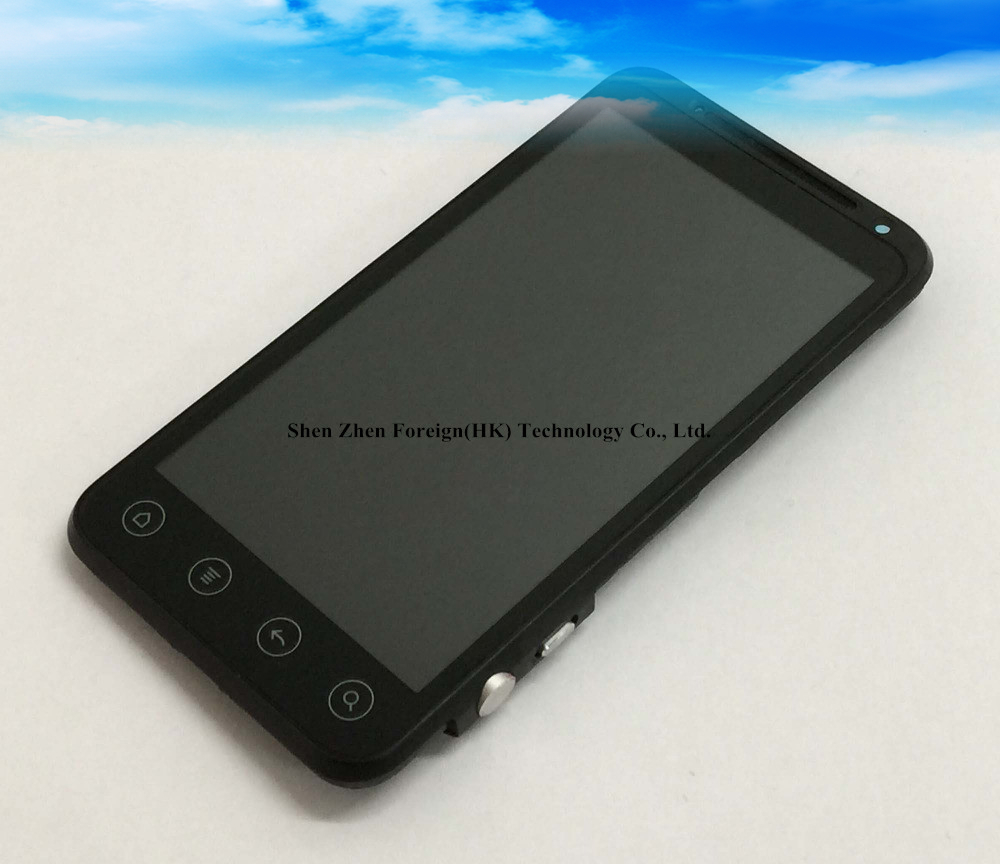For Russian Good Test  New  For Htc EVO 3D G17 X515M/X515D Super LCD Display Screen With Frame Black