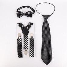 Повседневный модный детский комплект из 3 предметов в горошек с эластичной лентой и галстуком-бабочкой для студентов