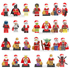 1PCS baby action figure star wars superhero marvel Santa Claus Christmas building blocks sets model bricks toys for children(China)