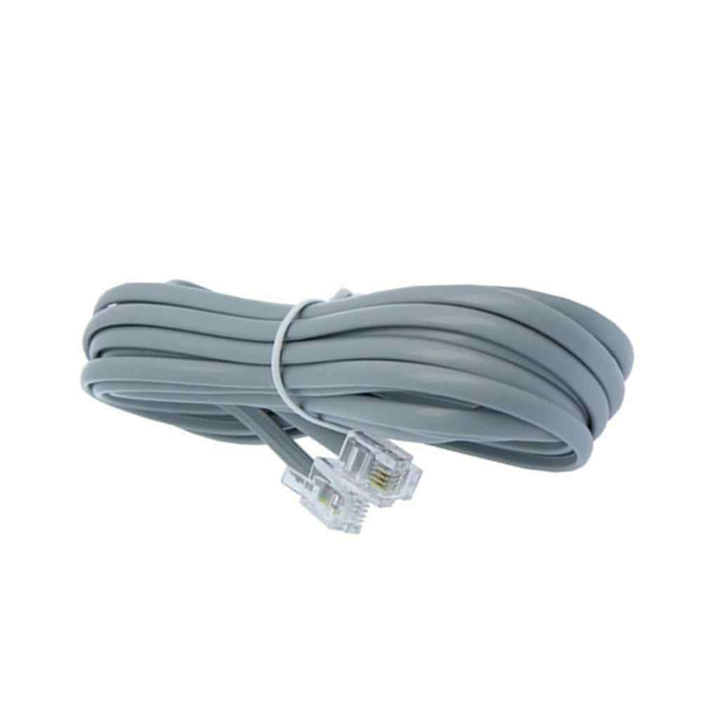 New 2m telephone line RJ11 6P4C connector phone cable pure Copper wire for PBX analog digital phone Six-core flat phone line