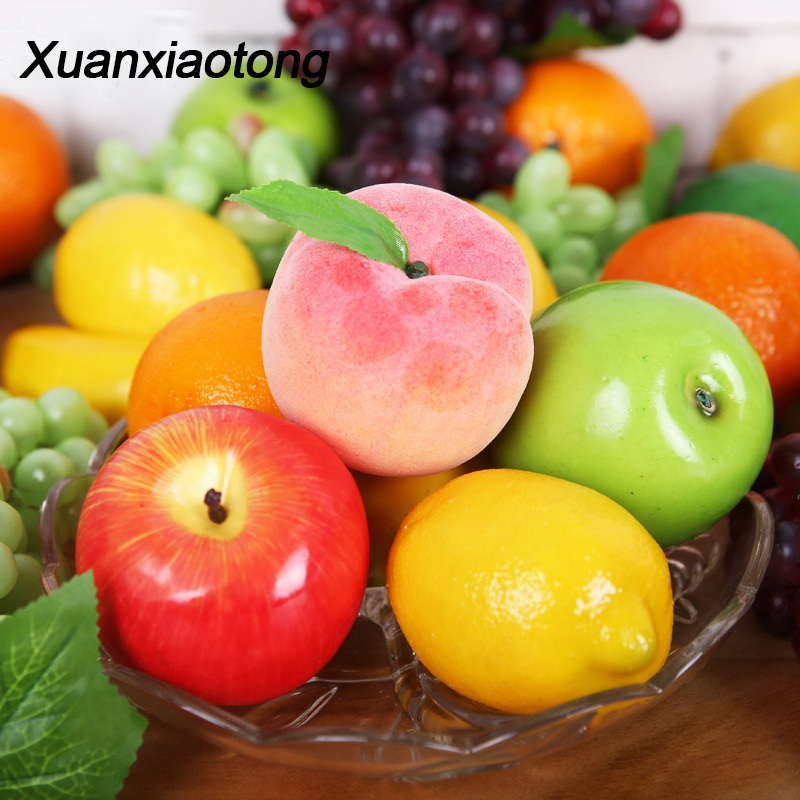 Xuanxiaotong Real Touch Apple Artificial Fruit Halloween Christmas Decorations for Home Simulation Mango Cherry Ornament Craft