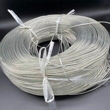 Linha luminosa da palavra do fio paralelo do cabo de prata dobro transparente de 22 awg rvh 2pin conduziu a linha clara para anunciar a luz/alto-falante