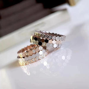 Rings Silver Luxury Brand Wedding Jewelry Top-Quality Wave Pure