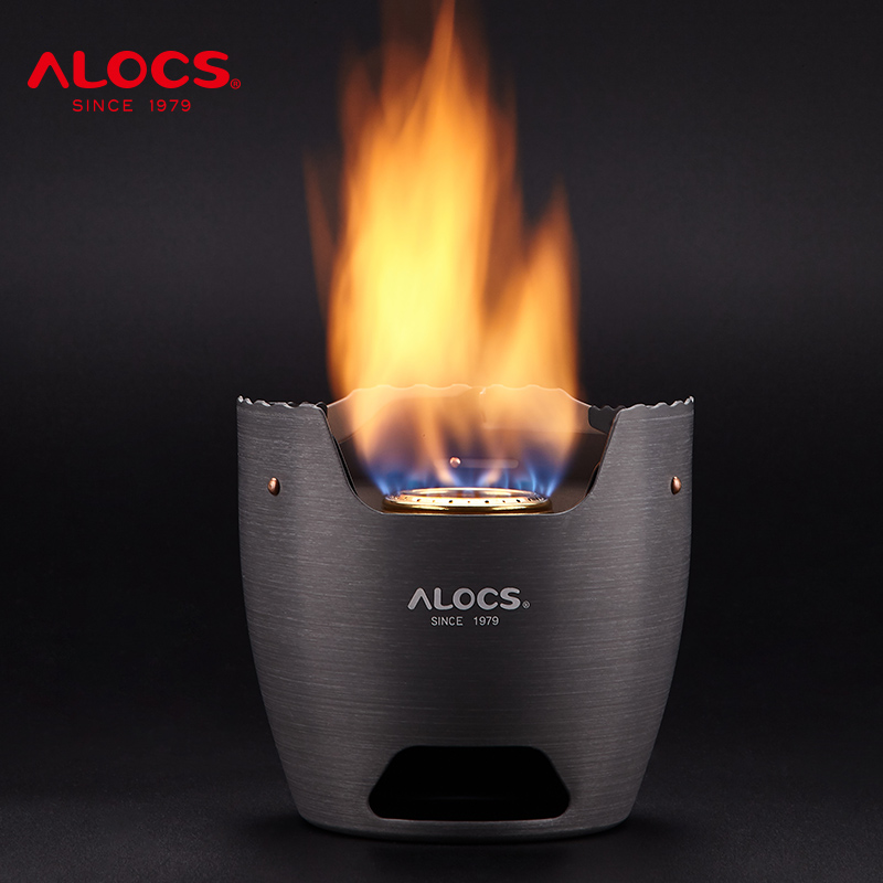 Alocs CS-B15S Camping Alcohol Stove Wood Charcoal Stove Spirit Burner Compact Portable Backpacking Hiking Camping Furnace Picnic image