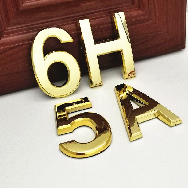 7cm House Address Number 3D Digits Numeral Plate Door Plaque Sign Sticker for Door Family Hotel Apartment Home Street Door Label