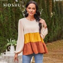 Chiffon T-Shirts Women Casual Tees Tops Sleeveless Color Block Ruffle Sleeve Tops Loose Summer Shirts for Woman Tshirts 2021