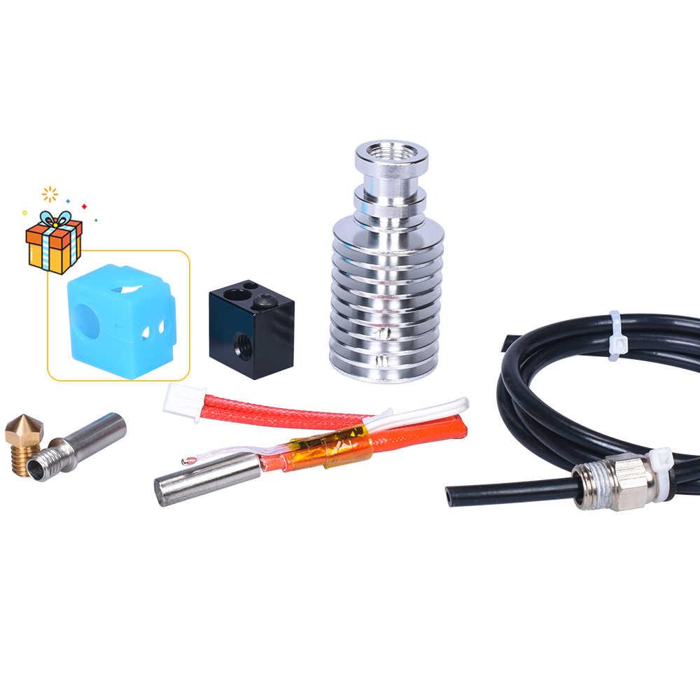 Kit de actualización I3 Mega Hotend V5 Hotend, piezas de impresora 3D, extrusora E3D Bowden, calcetín de silicona V5 de 12/24V para Anycubic I3 Mega/Chiron