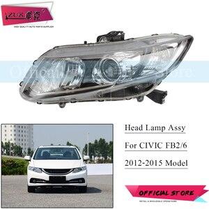 ZUK Авто галогенные лампы HID головной светильник фара в сборе для HONDA CIVIC 2012 2013 2014 2015 FB2 FB3 FB6 головной светильник налобный фонарь