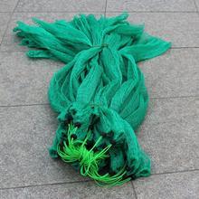 New Nylon Green Fishing Nets fishing Collapsible Rhombus Mesh Hole Folding Dip Net