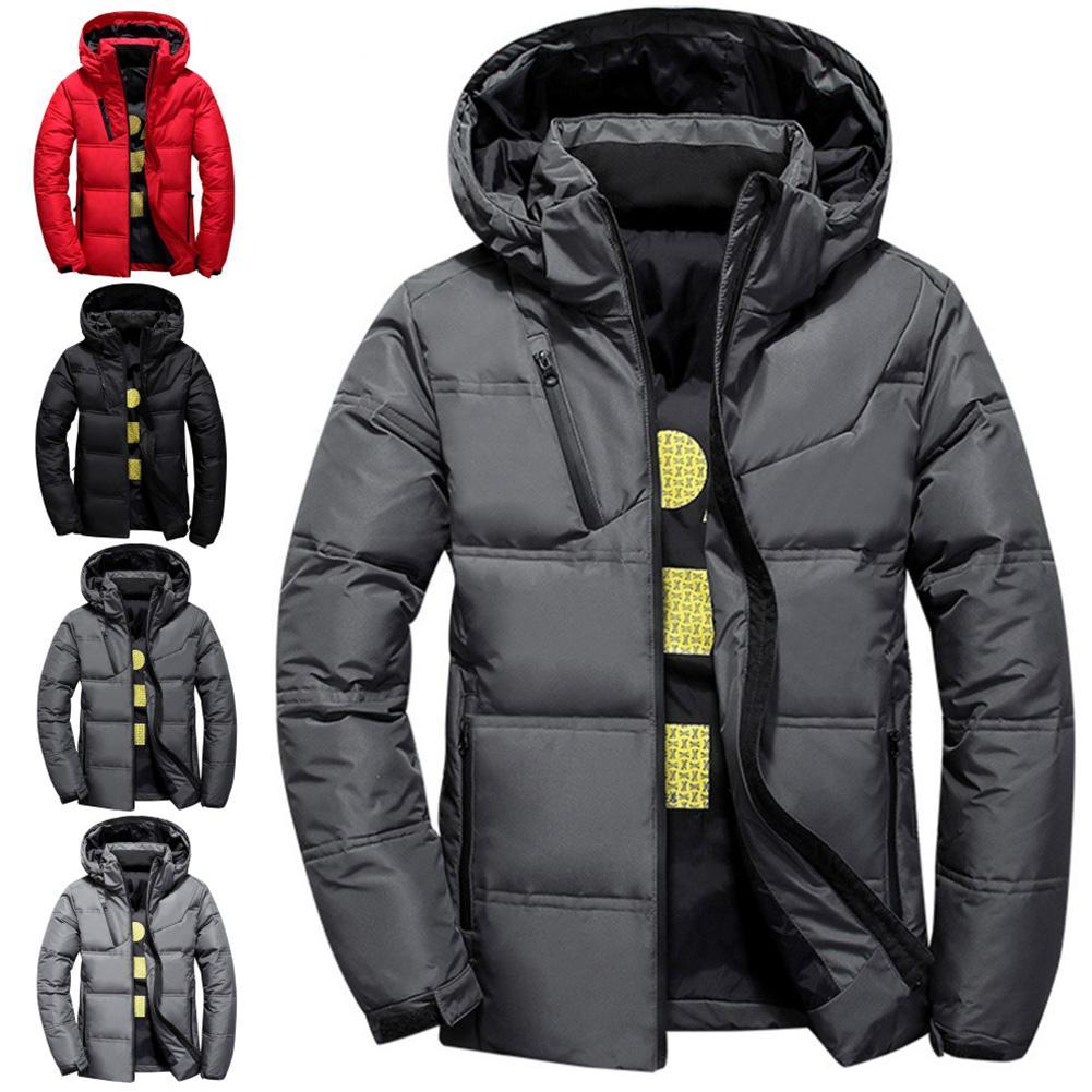 2019 New Casual Mens Jackets Coat Winter Warm Jacket Coat Patchwork Jacket Hooded Jacket Streetwear Coats Men Outerwear Coats