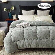 Chpermore овечья шерсть одеяло кашемировое одеяло толстые теплые одиночные двойные зимние одеяла Полный Твин King queen размер