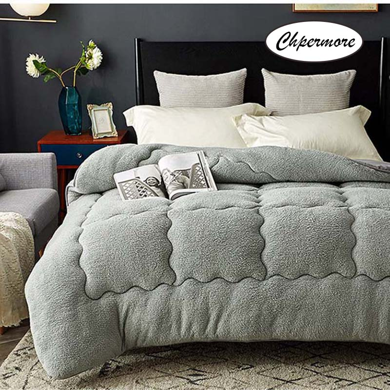 Chpermore 100% Lamb Cashmere Quilt Duvets Thick Warm Single Double Winter Comforters Full Twin King Queen Size