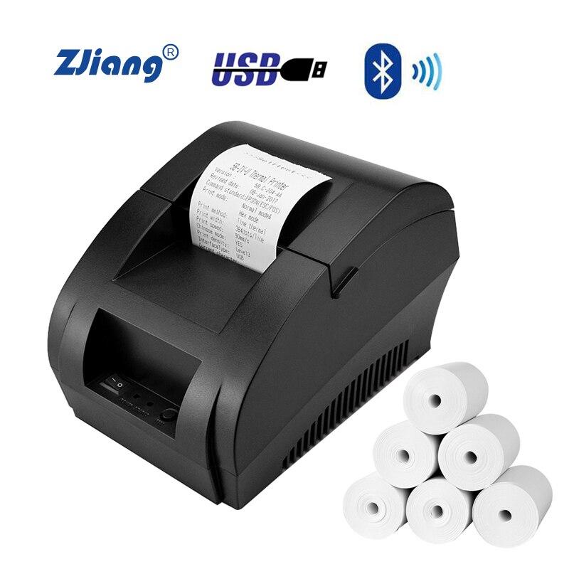 Thermische Empfang Drucker thermische 58mm POS USB Bluetooth Drucker Maschine impressora termica für Android iOS Windows verwenden in Shop
